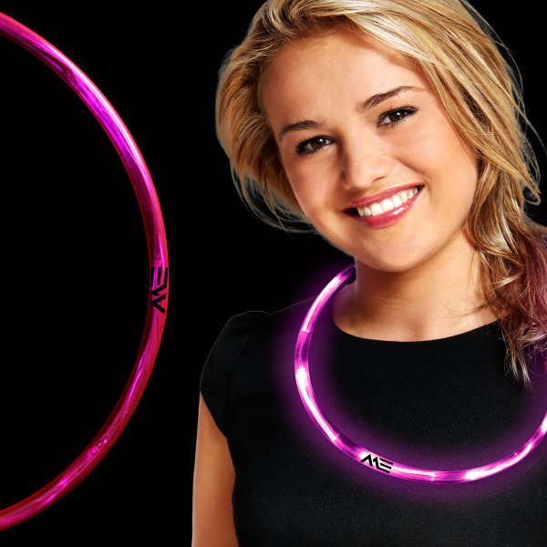 Printed Pink LED Necklace