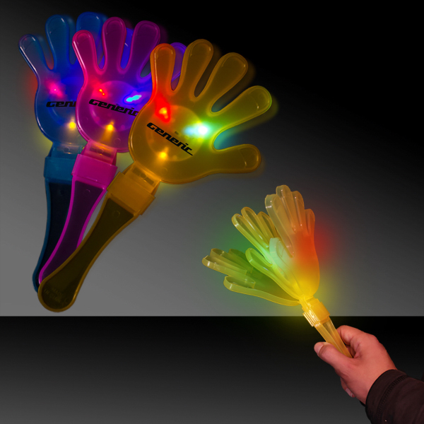 Imprinted Assorted Colors Flashing Light Up LED Clapper