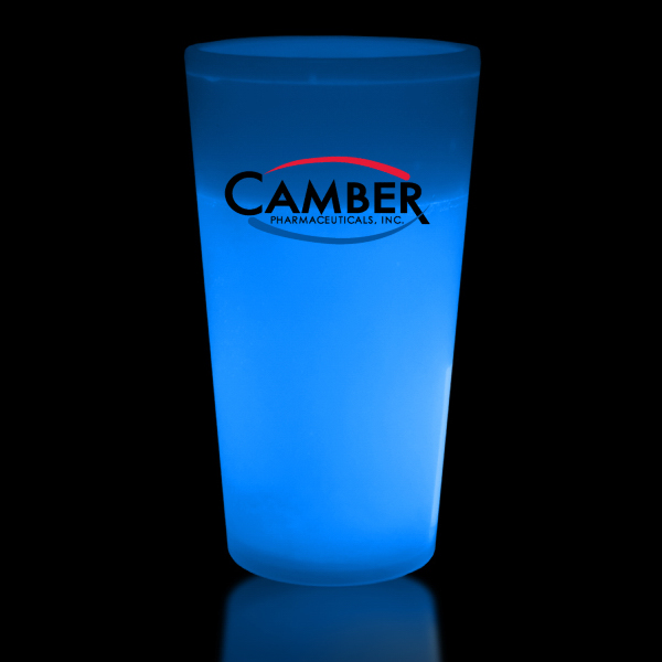 Personalized Blue 12 oz. Glow Cup