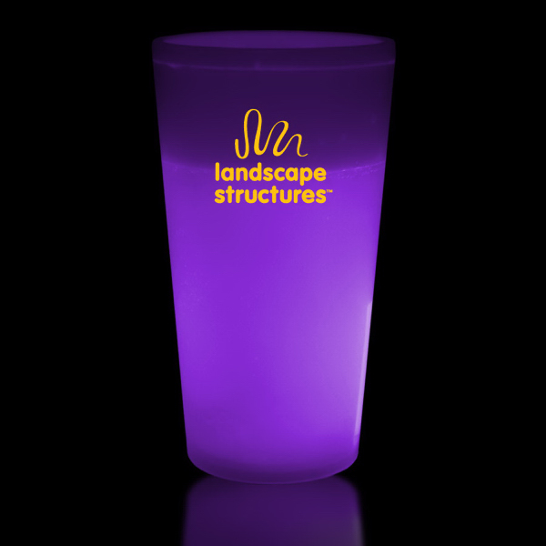 Customized Purple 12 oz. Glow Cup