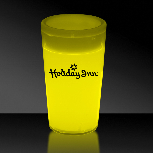 Personalized Yellow 2 oz. Tapered Style Glow Shot Glass
