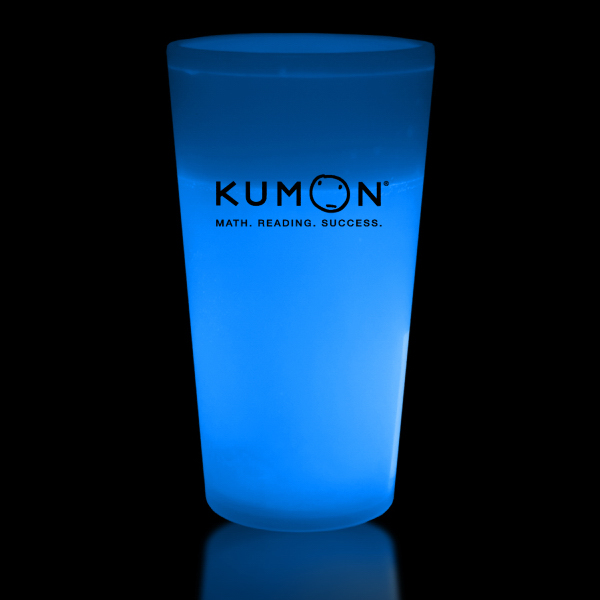 Customized Blue 16 oz. Glow Cup