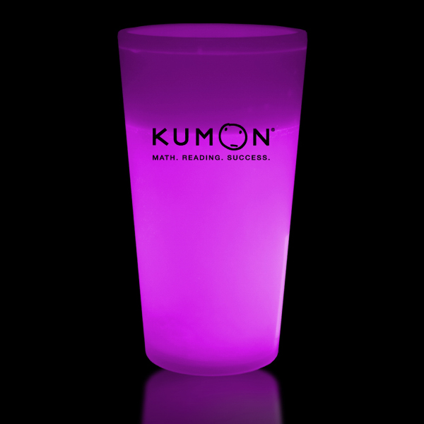 Customized Pink 16 oz. Glow Cup