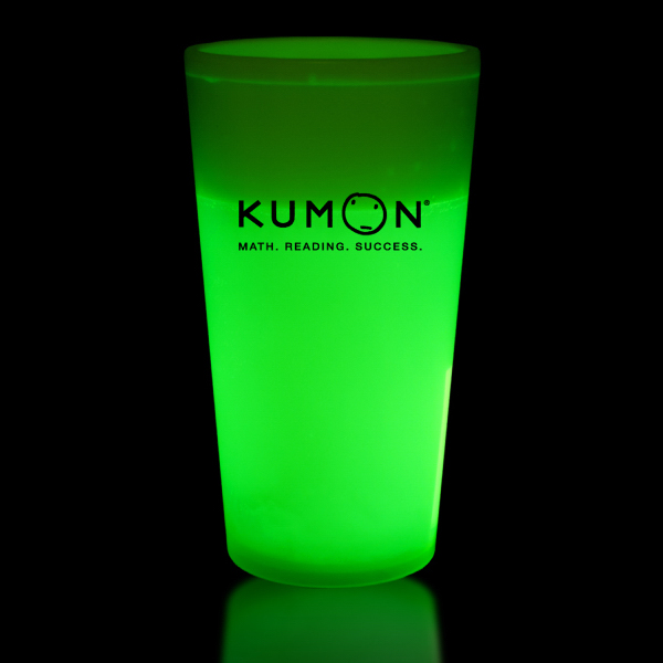 Imprinted Green 16 oz. Glow Cup