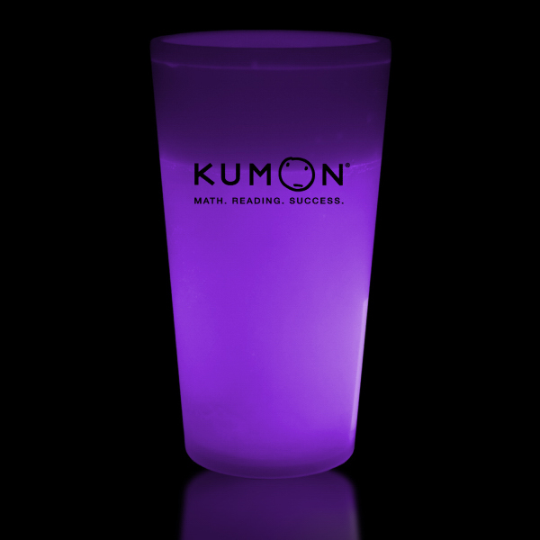 Imprinted Purple 16 oz. Glow Cup