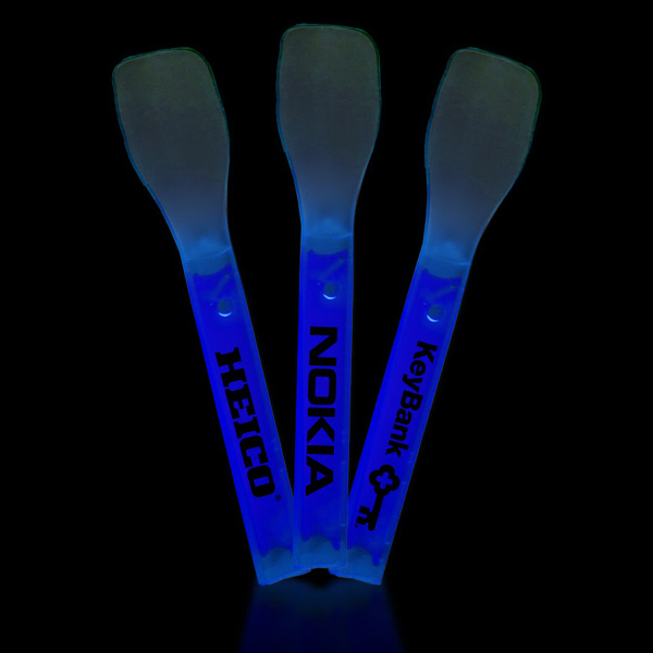 Imprinted Blue Glow Ice Cream Spoon