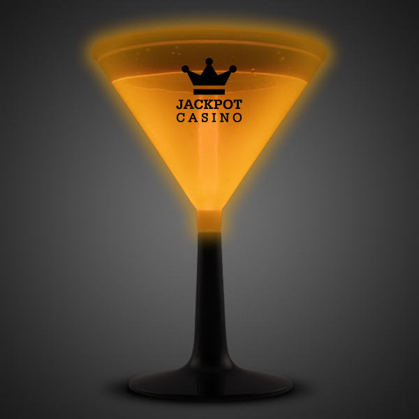 Personalized Orange 9 oz. Glow Martini Glass
