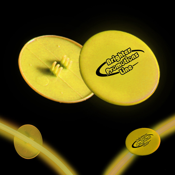 "Promotional Yellow 1 1/2"" Clip On Medallion"