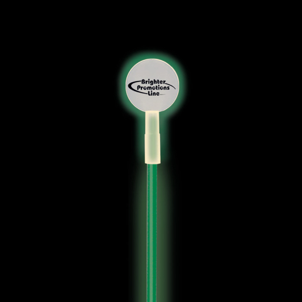 Imprinted Round Glow Swizzle Stick Toppers