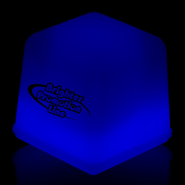 Printed Blue Glow Ice Cubes Packed in Tray of 24 Pieces
