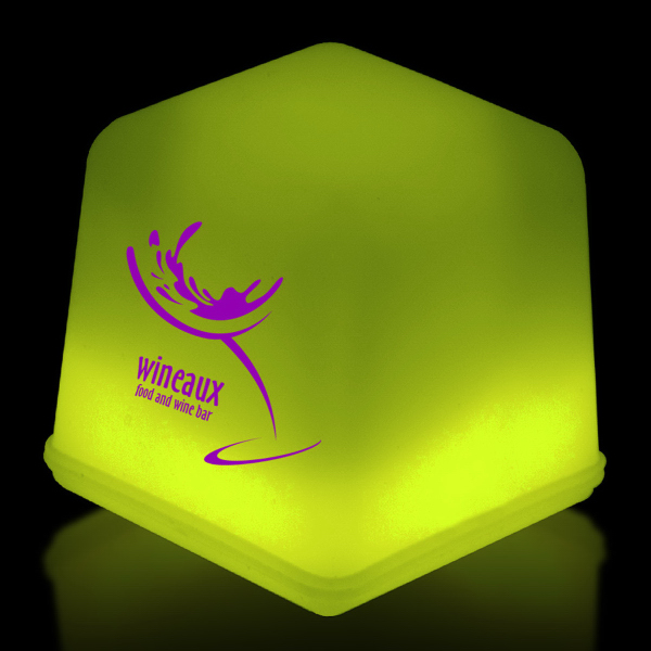 Personalized Yellow Glow Ice Cubes Packed in Tray of 24 Pieces