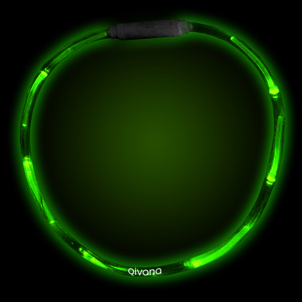 "Printed Green 27"" LED Light-Up Necklace"