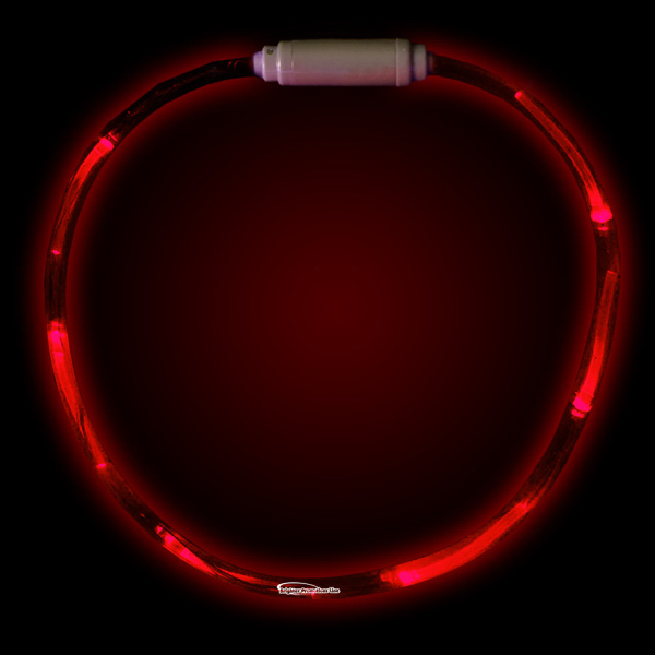 "Promotional Red 27"" LED Light-Up Necklace"