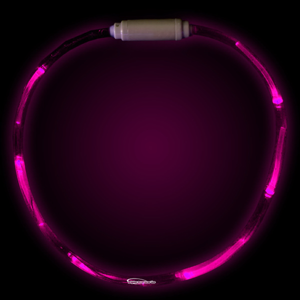 "Customized Pink 27"" LED Light-Up Necklace"
