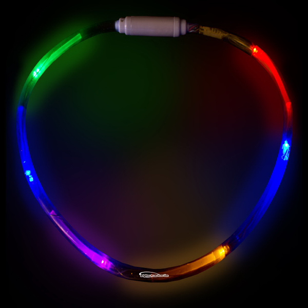 "Printed Rainbow 27"" LED Light-Up Necklace"