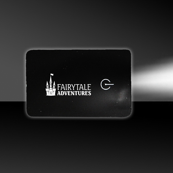 Personalized Black Card Flashlight