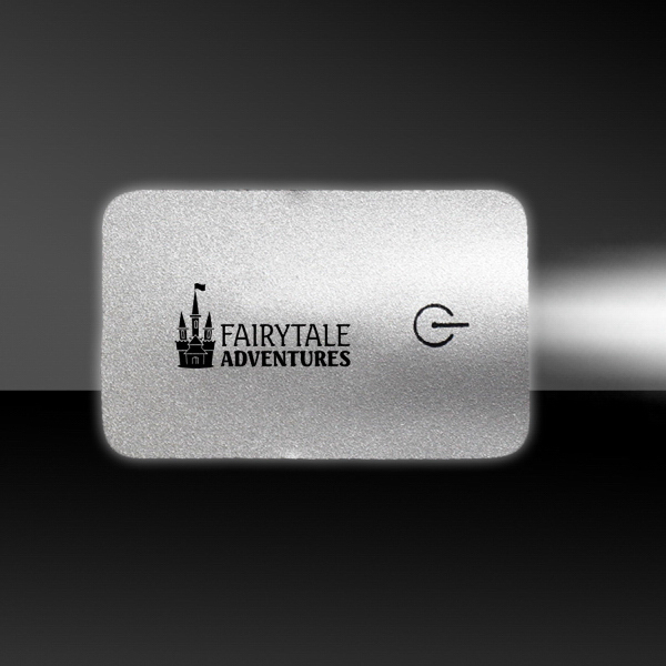 Printed Silver Card Flashlight