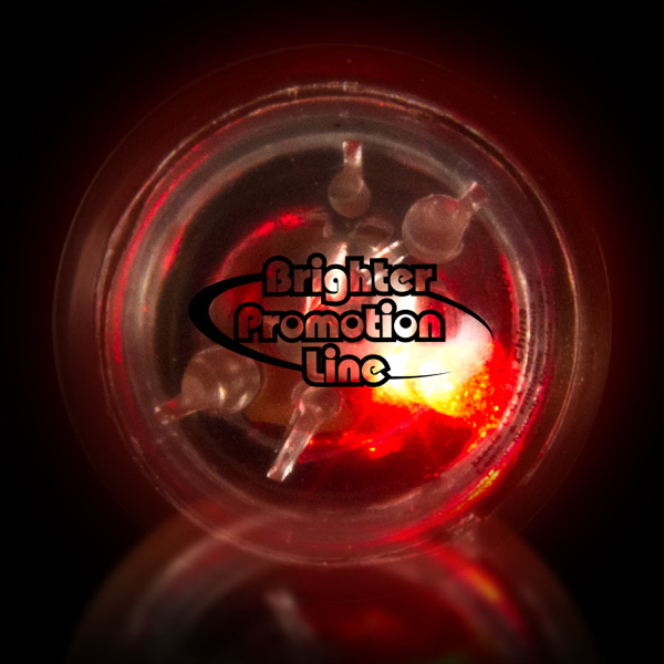 Personalized Clear Flash Ball with Red LED Lights