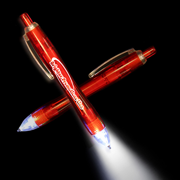 Imprinted Red Ultimate Lighted LED Pen