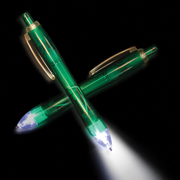 Custom Green Ultimate Lighted LED Pen