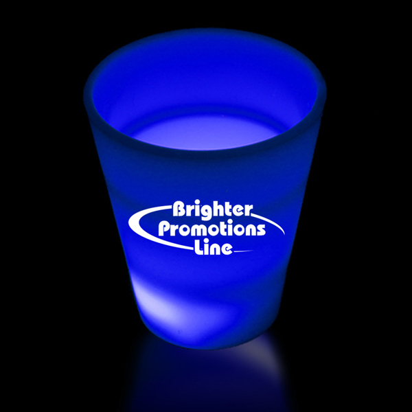 Customized Blue LED Neon Look 2 oz Shot Glass