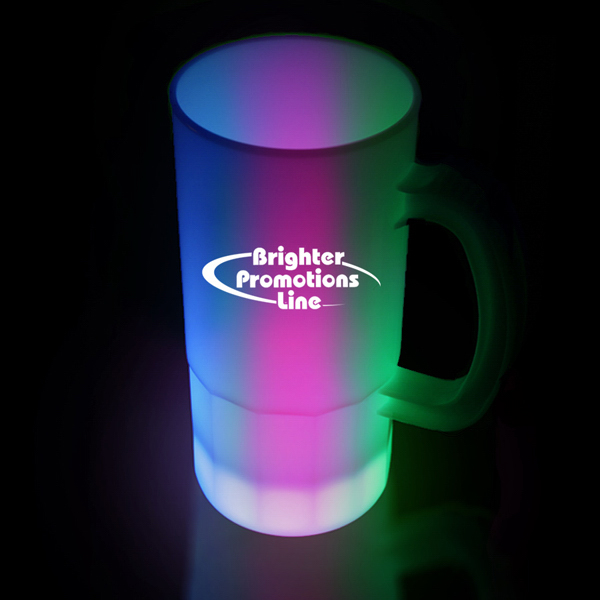 Imprinted Multi Color LED Neon Look 20 oz Beer Mug