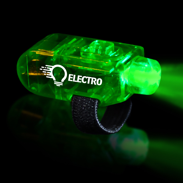 Personalized Green LED Finger Light