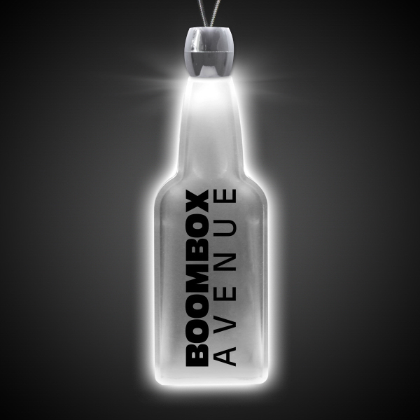 Custom Bottle White Light-Up Acrylic Pendant Necklace