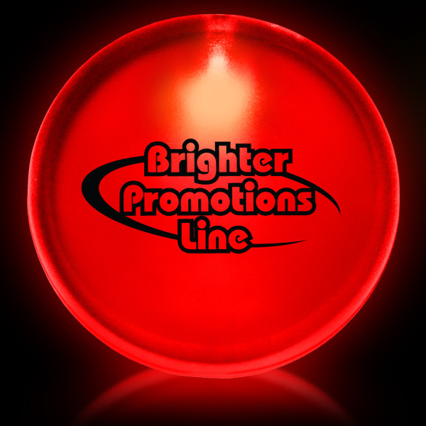 "Printed Red 2"" Lighted LED Badge"