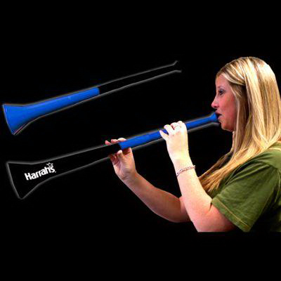 Promotional Black & Blue Bi-Color Collapsible Stadium Horns
