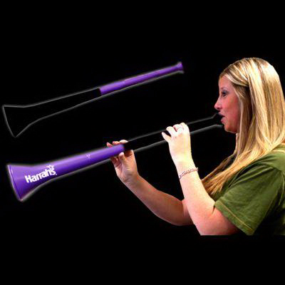 Promotional Black & Purple Bi-Color Collapsible Stadium Horns