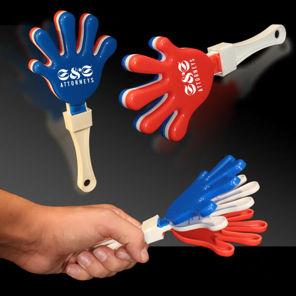 Printed Red White & Blue Hand Clapper