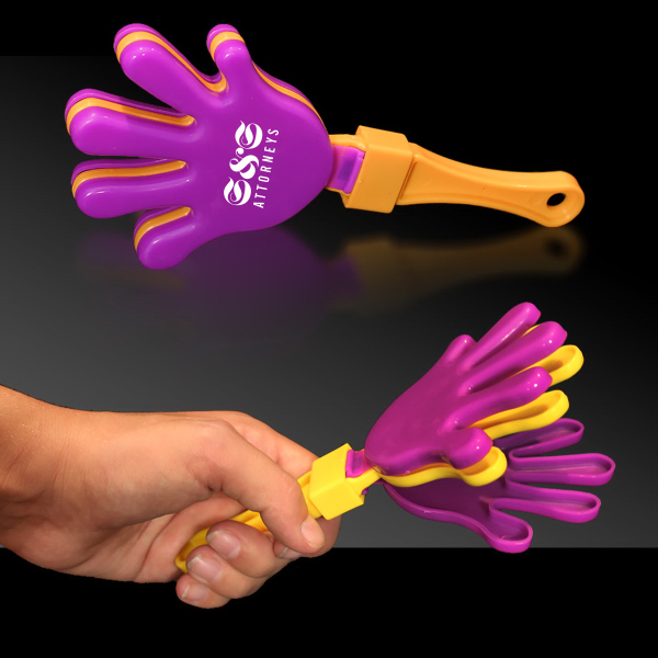 Printed Purple Yellow & Puprle Hand Clapper
