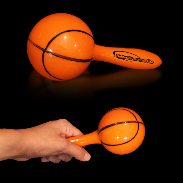 "Promotional Basketball 7"" Sport Maraca"