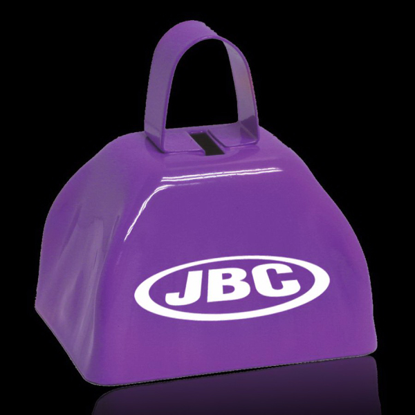 "Custom Purple 3"" Metal Cowbell"