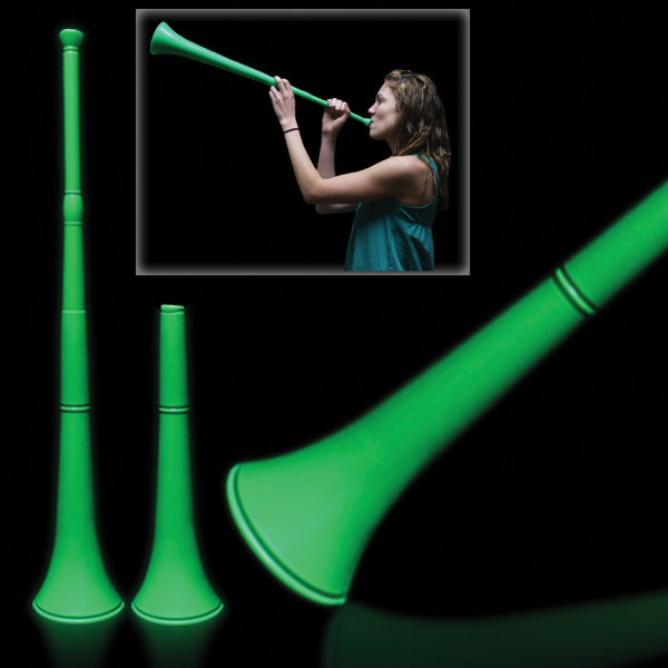 Printed Green Collapsible Stadium Horn