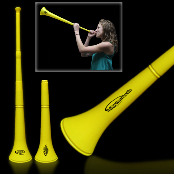 Imprinted Yellow Collapsible Stadium Horn
