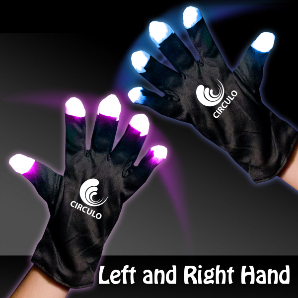 Promotional Light Up LED Rave Gloves