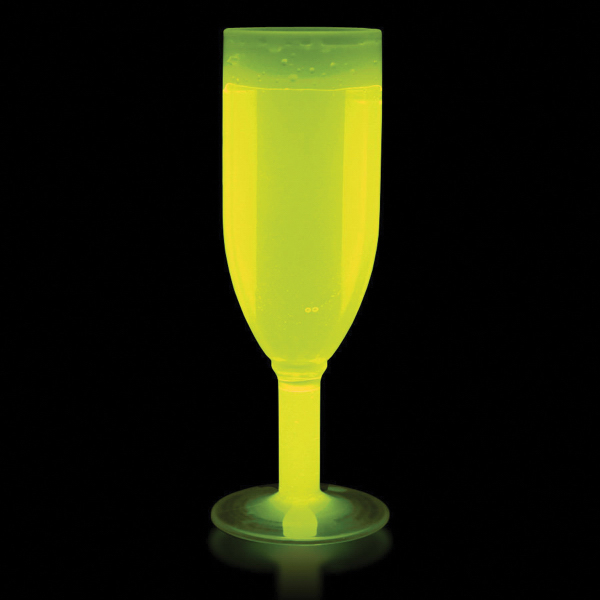 Personalized 4 1/2 oz Yellow Glow Champagne Glass