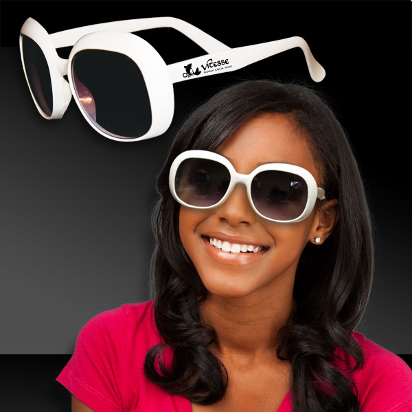 Personalized White Rock Star Sunglasses