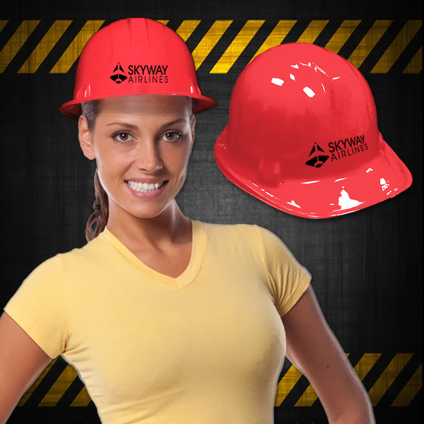 Promotional Red Construction Hat