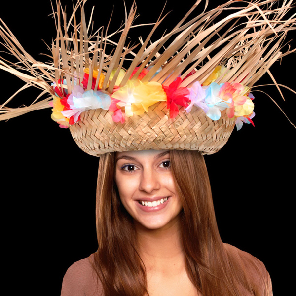 Promotional Beachcomber Hat with Flower Band
