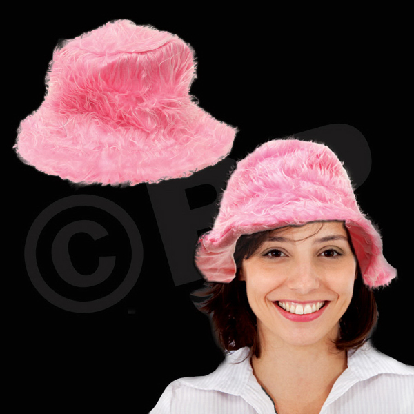 Printed Pink Lush Plush Hat