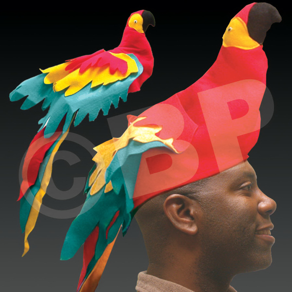 Printed Parrot Hat