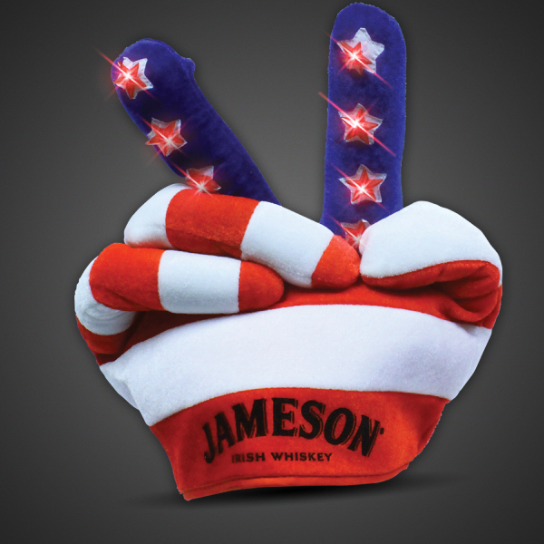 Customized Patriotic Lighted Glow Peace Hat