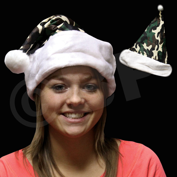 Personalized Camouflage Santa Hat