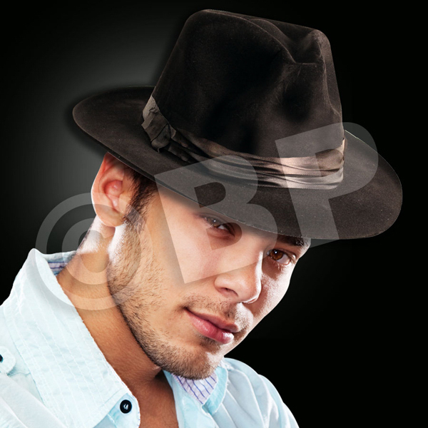 Custom Black felt Fedoras