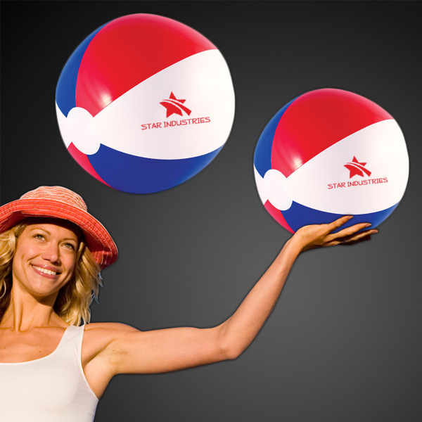 Imprinted Patriotic Beach Ball