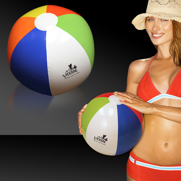 Printed Rainbow Beach Ball