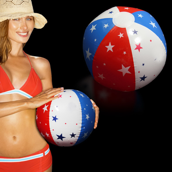 Imprinted Inflatable Patriotic Beach Ball